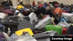 Багаж в аэропорту Шереметьево