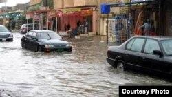 احد شوارع الموصل عقب الامطار الأخيرة