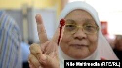 На президентских выборах в Египте. Каир, 27 мая 2014 года.