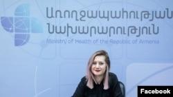 Пресс-секретарь министра здравоохранения Алина Никогосян (архив)