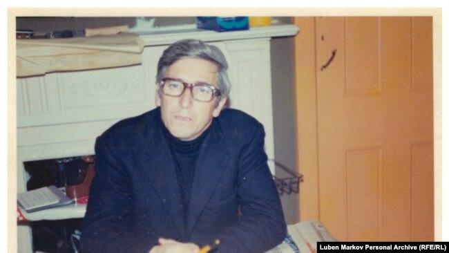 Георги Марков през 1973 г. Снимка: личен архив на Любен Марков.