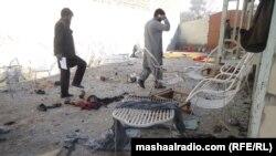 Pamje pas sulmit në Xhalalabad