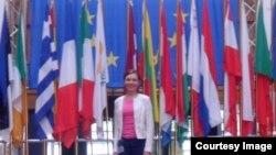 Тамара Рейсиг в Европейском парламенте. Страсбург, 2012 год.