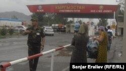"""КПП """"Достук"""" на кыргызско-узбекской границе"""