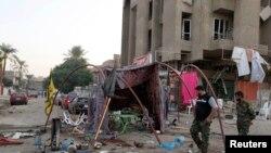 Pamje pas një sulmi të sotëm në Bagdad