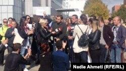 Протест на новинари во Косово.