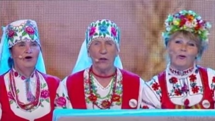 """The Belarusian grannies extol Alyaksandr Lukashenka's prowess on the farm. """"Lukashenka knows how to do everything, """" they sing."""