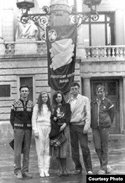 Акція студентів біля Львівського оперного театру