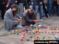 Жалобны мітынг на Майдане Незалежнасьці ў Кіеве