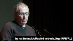 Mikhail Khodorkovsky at a public lecture at a Kyiv university on March 10