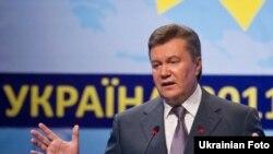 Віктор Янукович під час ХІІІ Всесвітнього конгресу російськомовної преси у Києві, 15 червня 2011 року