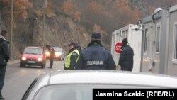 Pika kufitare Kosovë-Serbi, në Jarinje, 20 dhjetor 2012.