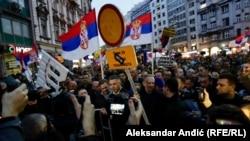 Protestul din Belgrad