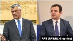 Хашим Тачи и Албин Курти