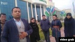 Бухоролик ëшларнинг президентга видеомурожаатидан кадр.