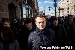 Aleksei Navalnîi, la protestul de pe str. Tverskaia, Moscova