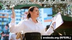 Сьвятлана Ціханоўская, мітынг у Берасьці, 2 жніўня 2020
