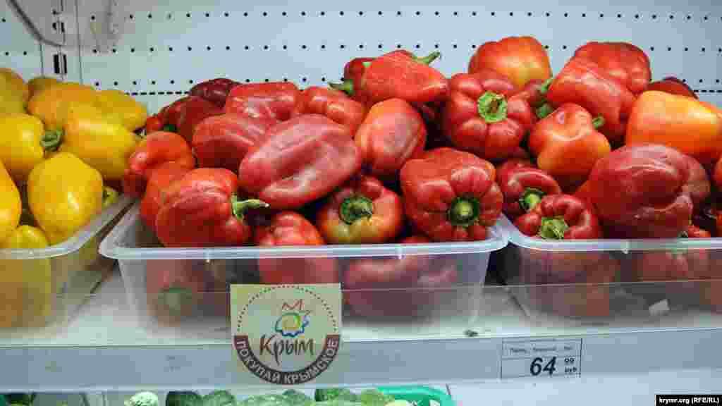 Овощи стали исключительно крымскими. Даже картошка, по утверждению продавцов, только местная