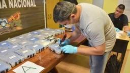 Кокаин, изъятый в российском посольстве в Аргентине