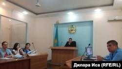 Судебное заседание по делу Ардак Ашим в Шымкенте. 10 мая 2018 года.