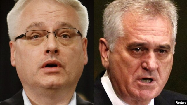 Croatia/Serbia -- A combo photo of Presidents Ivo Josipovic (L) and Tomislav Nikolic