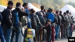 Փախստականներ Ավստրիայի և Գերմանիայի սահմանին, հոկտեմբեր, 2015թ․