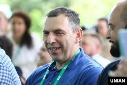 Сергій Шефір під час з'їзду партії «Слуга народу» в Києві, 9 червня 2019 року