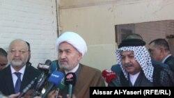 الشيخ محمد النجم متحدثا في النجف، 19 آذار 2015