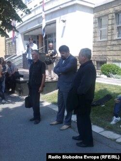 Roditelji ubijenih gardista ispred Specijalnog suda u Beogradu