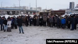 Январский митинг в поддержку татарского языка в Казани
