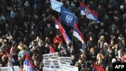 Pamje nga protesta në Mitrovicë
