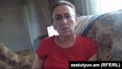 Уже бывшая временно исполняющая обязанности главы села Прошян Арменуи Меликян дает интервью Радио Азатутюн, 17 июня 2013 г.