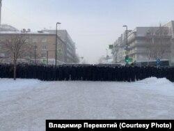 На акции протеста 31 января, Красноярск