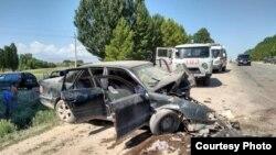 Кыргызстан. Таластагы жол кырсыгы. 2-июль, 2018-жыл. Сүрөттүн жаңылыкка тиешеси жок.