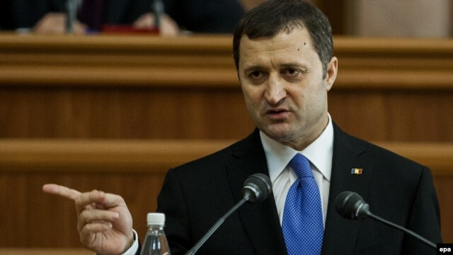 Vladimir Filat during an address to the parliament in Chisinau in March
