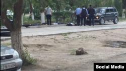 Фотография из социальных сетей предположительно о событиях в Актобе 5 июня 2016 года.