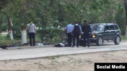 Ақтөбеде F0n-,tlt Фотография из социальных сетей предположительно о событиях в Актобе 5 июня 2016 года.