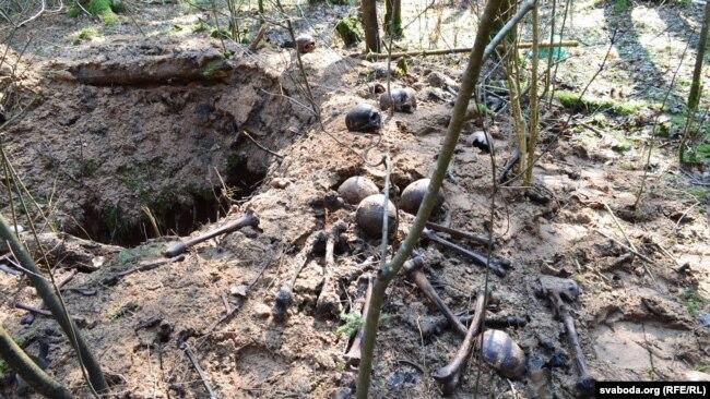 Парэшткі каля раскопаў (архіўнае фота)