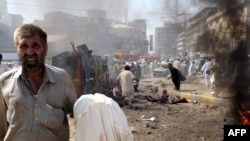 Forty-nine people died in a bomb blast at a crowded market in Peshawar on October 9.