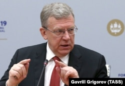 Former Russian Finance Minister Aleksei Kudrin at the St. Petersburg International Economic Forum on June 6