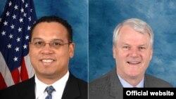 برایان بیرد (راست)، نماینده دموکرات واشینگتن و کیث الیسن نماینده دموکرات مینیسوتا