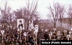 راهپیمایی هواداران آیتالله شریعتمداری در تبریز در سال ۱۳۵۸