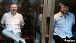 Анна Политковскаяның өліміне қатысты сотталғандар. Мәскеу, 9 маусым 2014 жыл.