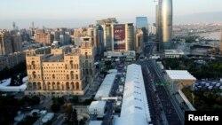 Pamje e një pjese të kryeqytetit Baku në Azerbajxhan