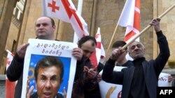 Демонстрация в Тбилиси против Бидзины Иванишвили (архивное фото)