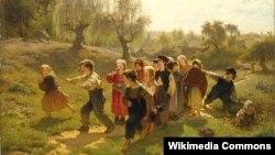 Аўгуст Мальмстрам, «Гульня» (1865).