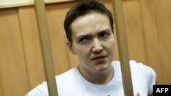 Надежда Савченко в Басманном суде Москвы 7 ноября 2014 года