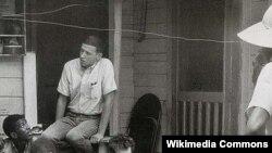 ԱՄՆ -- Բոբ Դիլանը Գրինվուդում, Միսիսիպի, 1963