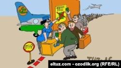 Рассом Tuz минглаб муҳожирларни қийнаётган паспорт муаммони ҳажв қилган.