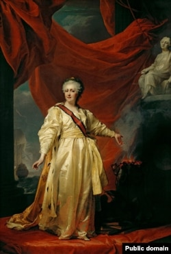 Дзьмітрый Лявіцкі, «Кацярына ІІ як заканадаўцы ў храме багіні справядлівасьці» (1783)